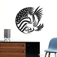 eagle wall decoration flag and eagle wall stickers animals hollow out adhesive sticker wall decals home eagle wall decoration