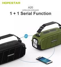 Loa Bluetooth Cao Cấp HOPESTAR A20 Pro (Tặng 1 micro không dây) Kết nối TWS 2  loa cùng lúc - Hàng thị trường Thái