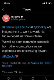 Cloakzy Confirmed To Be Leaving Faze Fortnitecompetitive