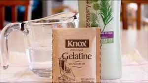 adding gelatin to shampoo