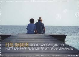 Postkarte Liebesspruch Für Immer Ist Eine Lange Zeit