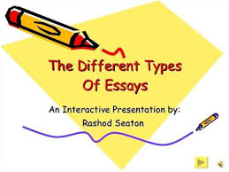essay questions types essay questions
