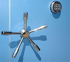 vault door spindle wheel and digital lock