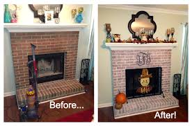 how to whitewash a brick fireplace