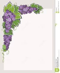 Wine Border Template Corner Border With Dark Grape Stock Vector Illustration Of Food
