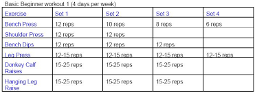 Bodybuilding Workout Chart For Men Pdf Tracpinsskyb Blog Archive Mass Gaining Workout Program