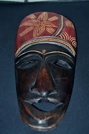 details about vintage hand carved wooden african tribal passport mask