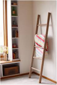 Full Image for Ladder Corner Shelf Large Rustic Blanket Storage Decorative  Ana White Ladder Shelf Ladder ...