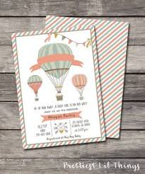 THUMBPRINT GUESTBOOK Printable Sign Vintage Hot Air BalloonVintage Hot Air Balloon Baby Shower