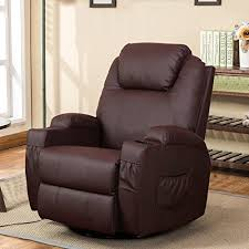recliner chairs with cup holder. Beautiful Cup Esright Massage Recliner Chair Heated PU Leather Ergonomic Lounge 360  Degree Swivel Brown Intended Chairs With Cup Holder Amazoncom