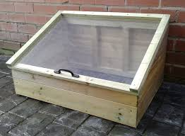 our coldframes are constructed from pressure treated timber to resist rot and insect with clear acrylic lids rather than glass to make them safer for
