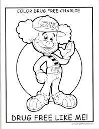 Drug Free Coloring Sheets Red Ribbon Week Coloring Contest Drug