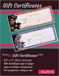 Gift Certificate Book 45 Pre Prepared Certificates Ready Made
