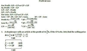 Profit Loss Formula Profit And Loss Shortcut Tricks And Concept