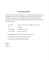 Job Completion Certificate Letter Example Resume Examples For Nurses