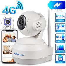 3G 4G Sim Karte IP PTZ Kamera 1080P Wireless Home Sicherheit Kamera 2 Audio  Video überwachung CCTV Netzwerk Batterie Dome Kamera Surveillance Cameras