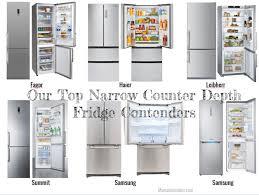 shallow depth refrigerator. Simple Depth Narrow Counter Depth Refrigerator In Shallow