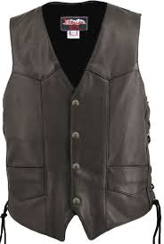 leather vest black tap to expand