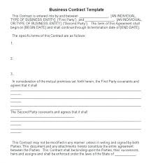 Example Of Business Contract Business Business Contract Between Two