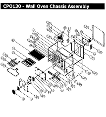 cpo130 wall oven chassis assy parts diagram