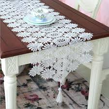 piano table runner hot table runner elegant lace table cloth with pendant decorative court luxury wedding