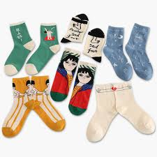 Women Japan painting <b>cartoon Harajuku</b> fashion kawaii <b>socks</b> ...