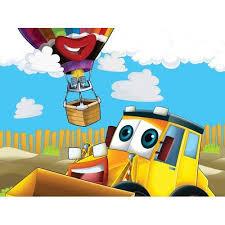 pvc multicolor 3d cartoon wallpaper for