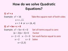 4 how do we solve