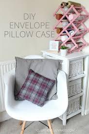 diy envelope pillow case claireabellemakes