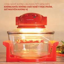 Mã SKAMLTSM9 giảm 10% đơn 99K] Lò nướng thủy tinh 12 lít Sunhouse SH416 đỏ