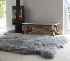 huge icelandic grey sheepskin rug