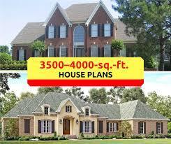 3500 4000 square foot house plans blend