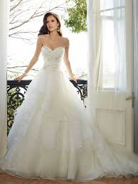 fantasy organza ball gown with chapel train