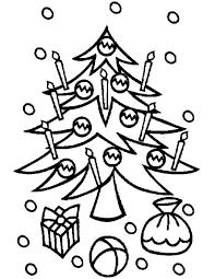 Kerstboom Tekening Concept Kerstkaarsen Kleurplaten