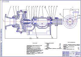 Насос шламовый Ш Чертеж Оборудование для бурения нефтяных и  Насос шламовый 6Ш8 Чертеж Оборудование для бурения нефтяных и газовых скважин Курсовая работа