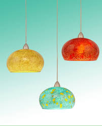 orange pendant lighting. three different color bowl shaped hand blown glass mini pendant lights metal hanger u2026 orange lighting i