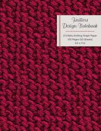Knitters Design Notebook 2 3 Ratio Knitting Graph Paper 100 Pages