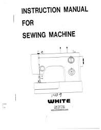 White Sewing Machine Model 1510 Free Manual