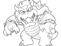 Cat Bowser Coloring Pages Mario Bowser Coloring Pages Download And