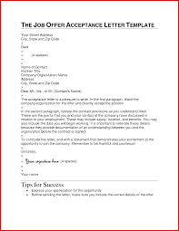 Unique Accepting Offer Letter Sample Email Mailing Format