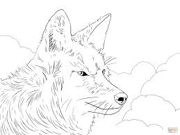 Small Picture Coyote Head coloring page Free Printable Coloring Pages