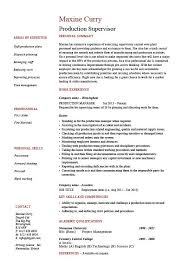 Production Supervisor Resume Sample Example Template Job Pertaining ...