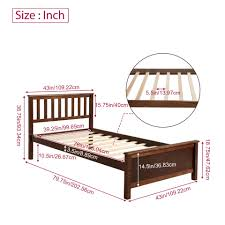 Wood Platform Bed With Headboard Footboard Wooden <b>Bed Frame</b> ...