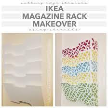 Magazine Holder Template Ikea Magazine Rack Makeover Using Stencils Stencil Stories 19