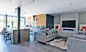 Open Plan Kitchen Living Room Layouts Prepossessing Open Plan Contemporary Open Plan Kitchen Living Room