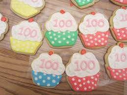 100th Birthday Party Cookies Decorated Sugar Cookies In 2019