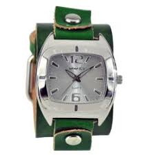 nemesis watches overstock com the best prices on designer mens nemesis women s retro green leather cuff watch