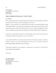 Resignation Letter: Resignation Letter For School Reason Sample ...