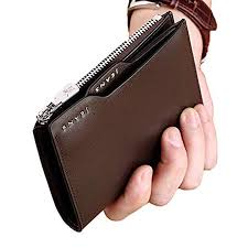 WilliamPOLO Genuine Leather Bifold Wallet with ... - Amazon.com