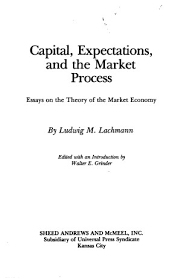 capital expectations and the market process essays on the  title page 0721 toc